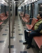 Reg on the Train